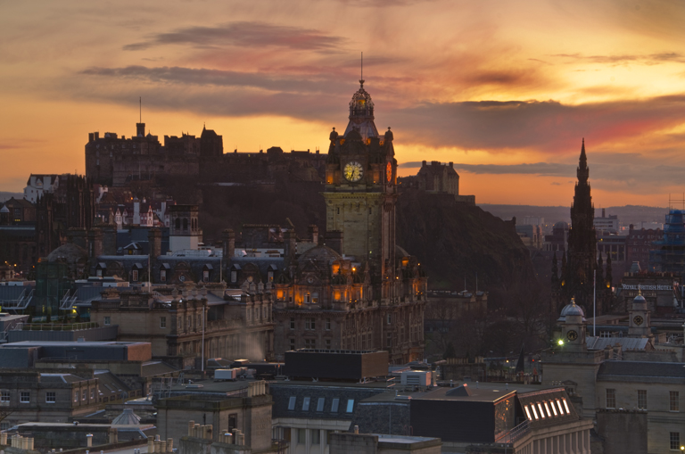 Edinburgh Sunset 17 March